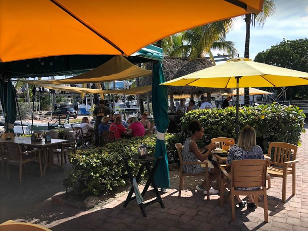 Waterfront Dining At Buzzard's Roost Restaurant In Key Largo, Florida