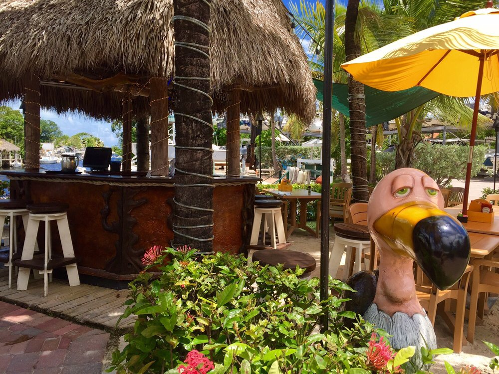 Waterfront Bar At Buzzard's Roost Restaurant In Key Largo, Florida